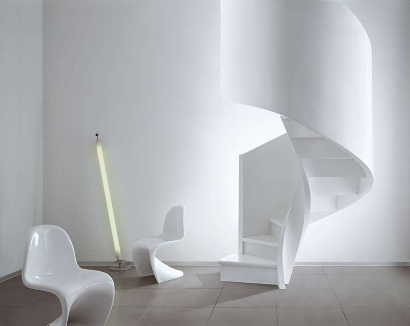 Cement spiral staircase c ns by edilco stair white for Scala a chiocciola da 4 piedi