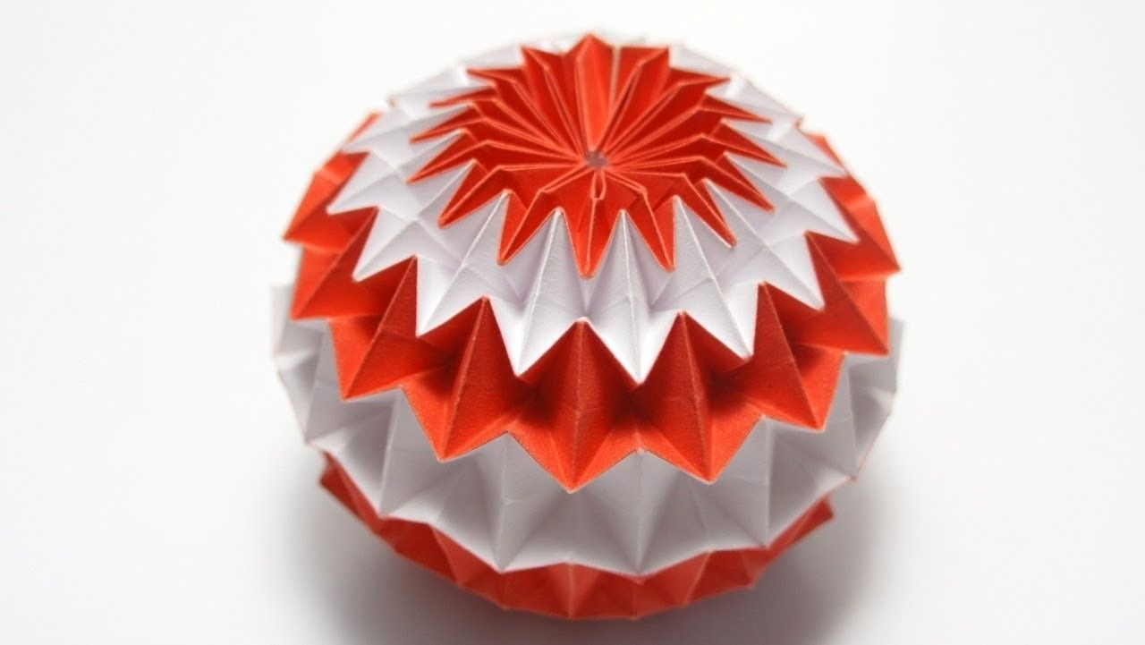 The Art Of Paper Folding How To Make An Origami Sphere 3d Swan Diagram Http Howtoorigamicom Origamiswanhtml