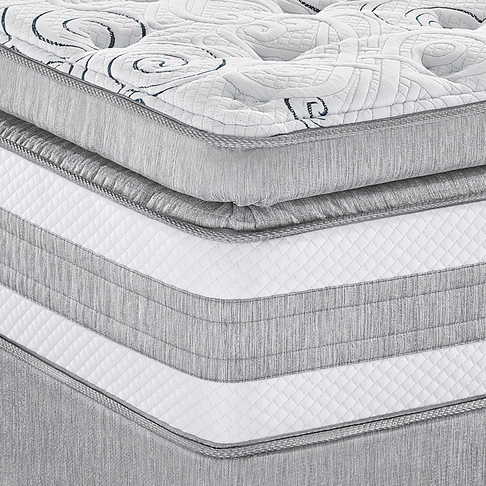 d top pillowtop mattress itm goose feather topper giselle pillow down bedding var