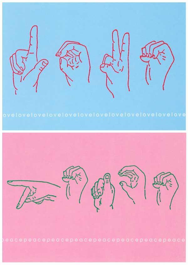 i Love You Sign Language Drawing Love Sign Language Drawing