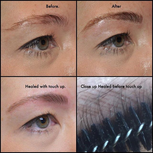 Another Example Of The Microblading Process Healed With A Touch