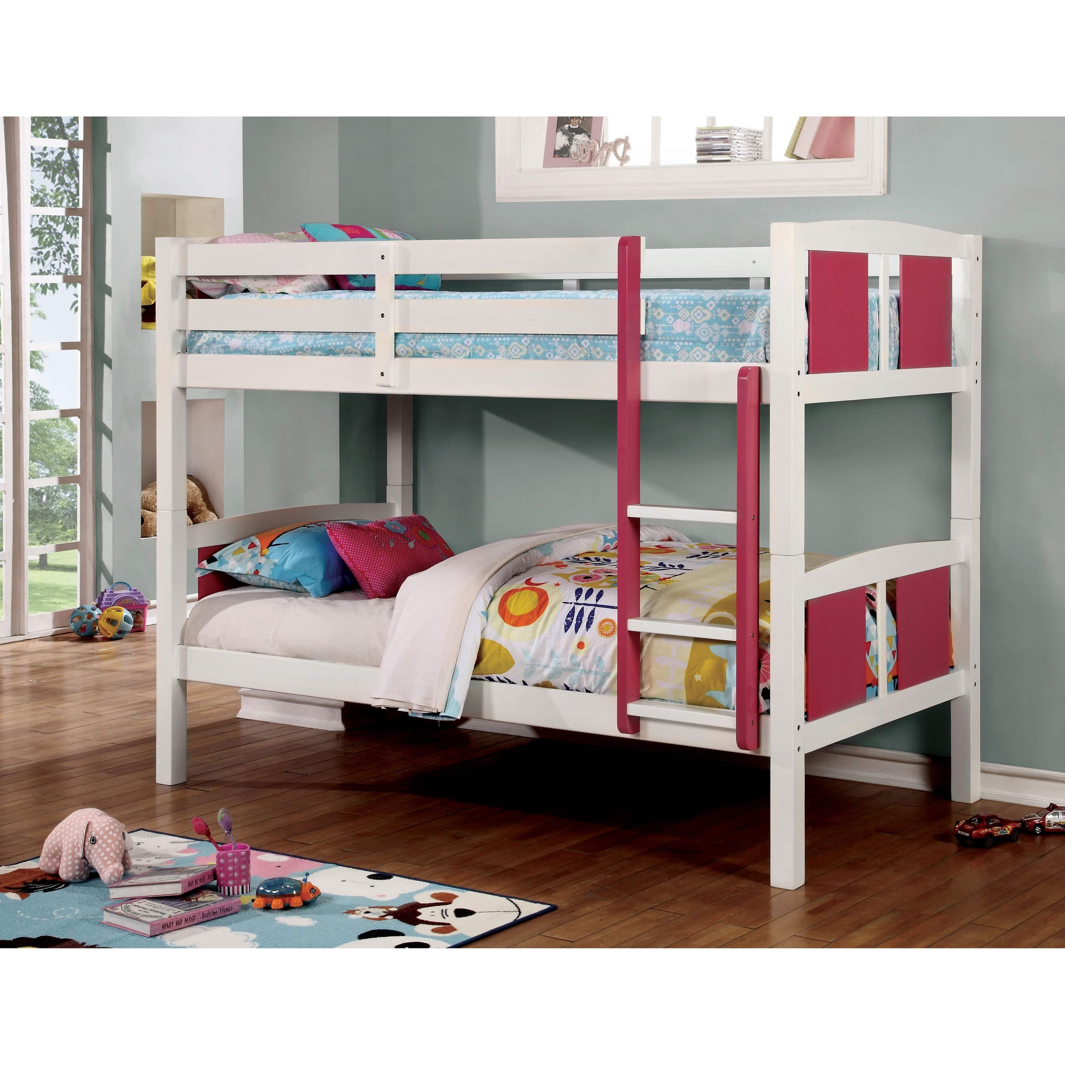 Furniture of America Foso Transitional White Solid Wood