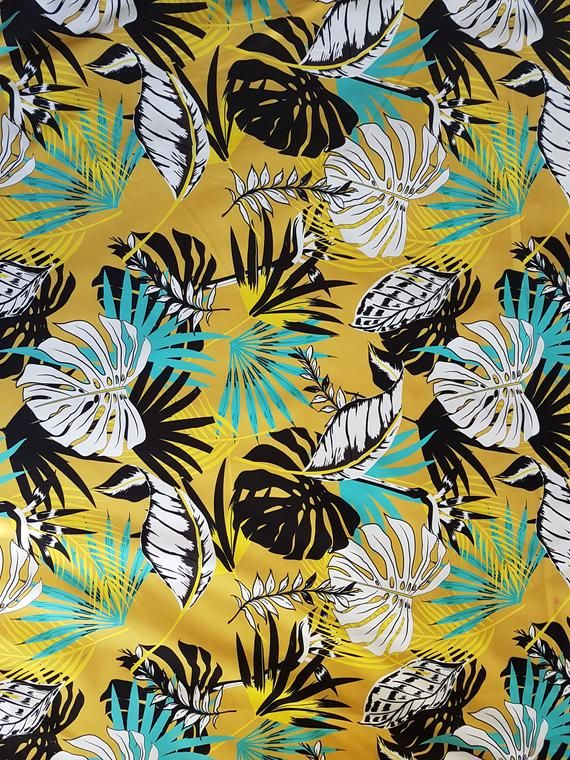 Printed velour velvet upholstery fabric 250g/m2 Monstera Mustard Yellow #velvetupholsteryfabric