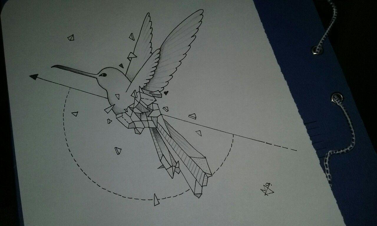 #AnimalesGeometricos #Ave #Colibrí #Dibujo