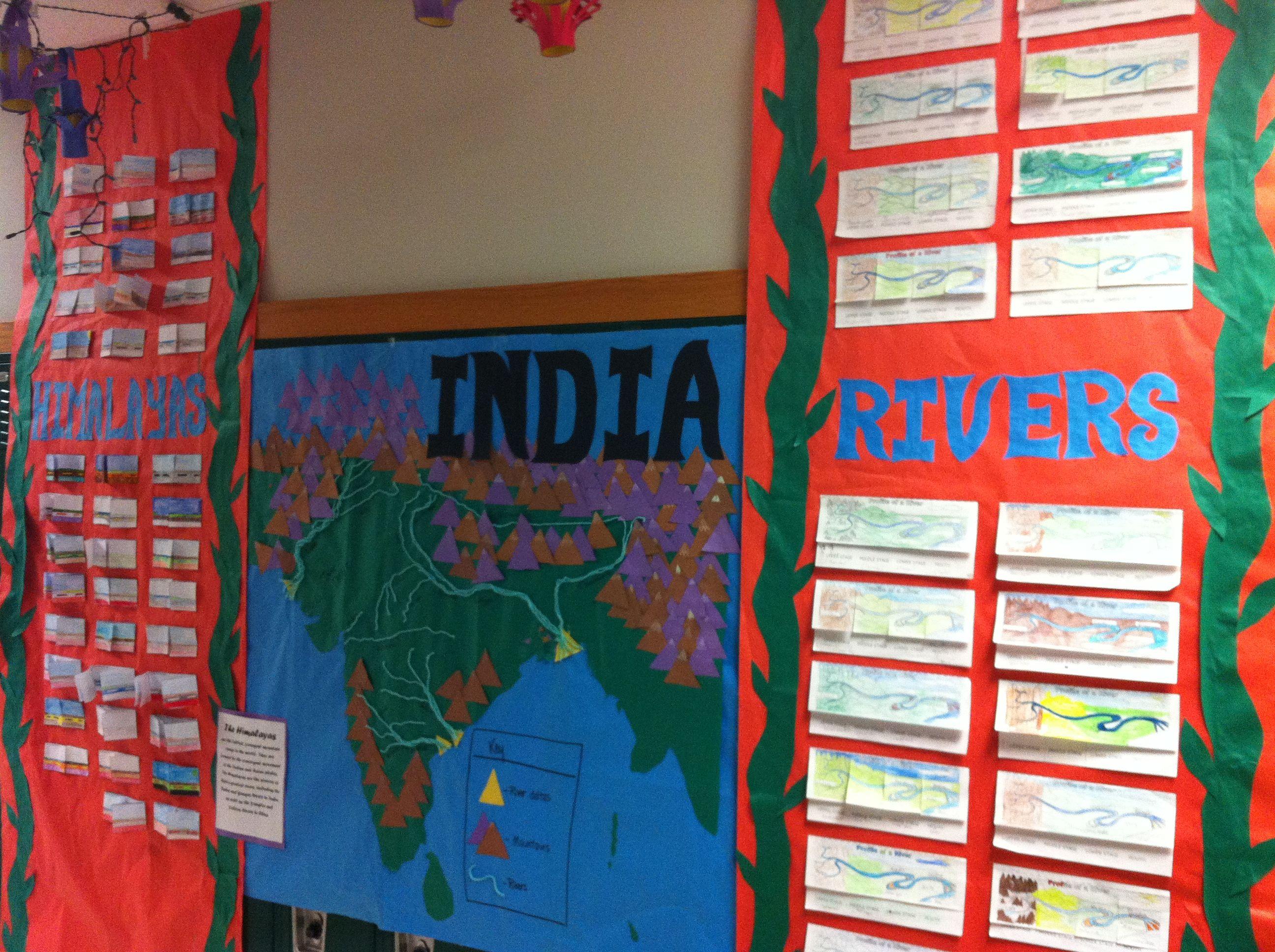 India Map Himilayas And River Models