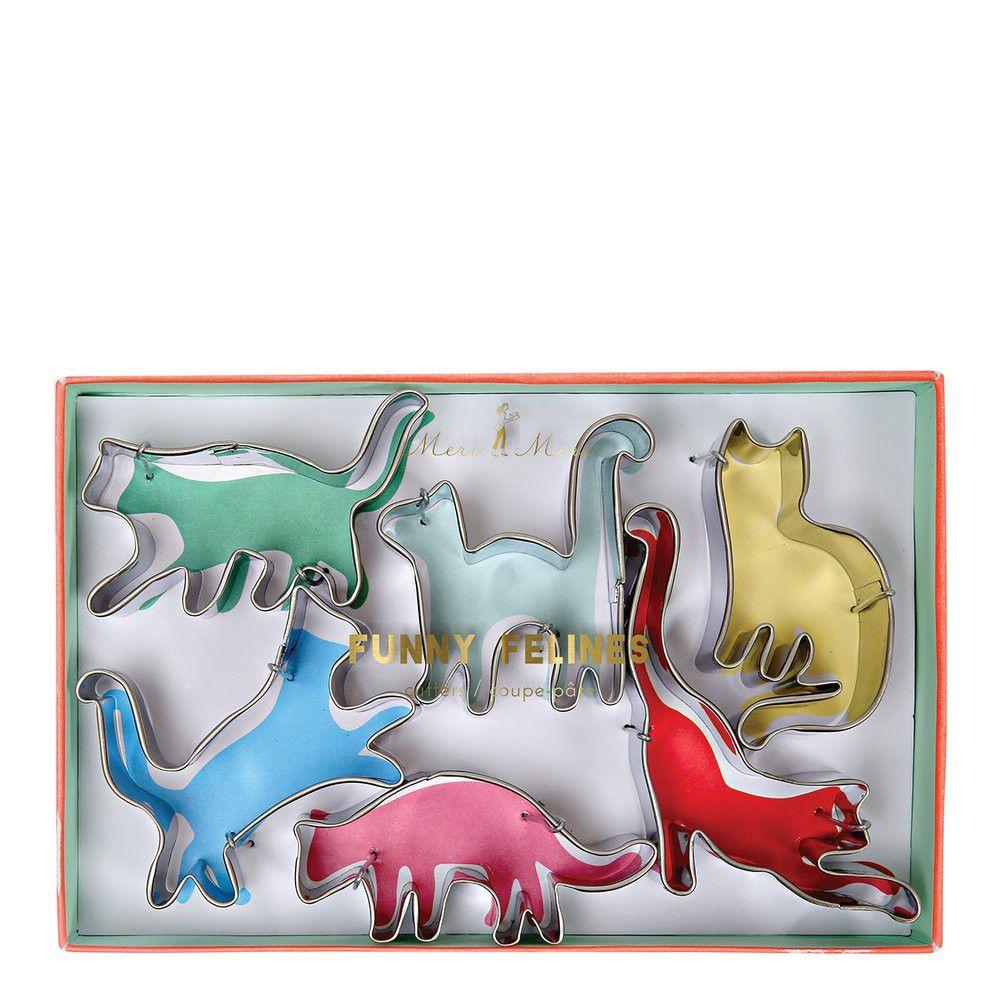 Meri Meri - Funny Felines Cookie Cutters - Cookie Cutters - 6ct