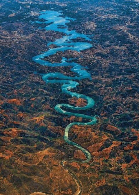 The Blue Dragon River, Algarve, Portugal