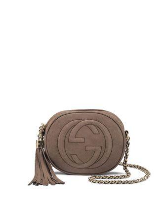 ac8644091e8 Soho Nubuck Leather Mini Chain Bag, Gray by Gucci at Neiman Marcus ...