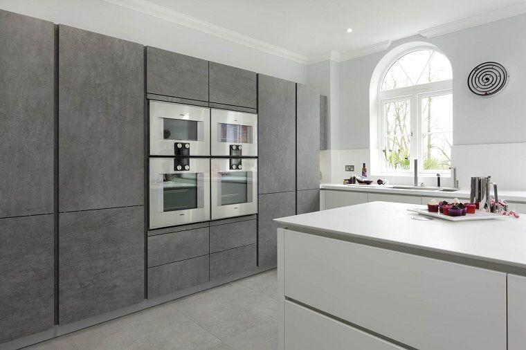Cocinas modernas blancas y grises - 20+ diseños inspiradores -