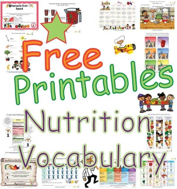 nutrition words food vocabulary facts future teacher ideas
