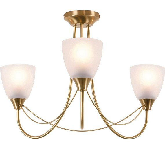 Buy home symphony 3 light ceiling fitting antique brass at argos co uk