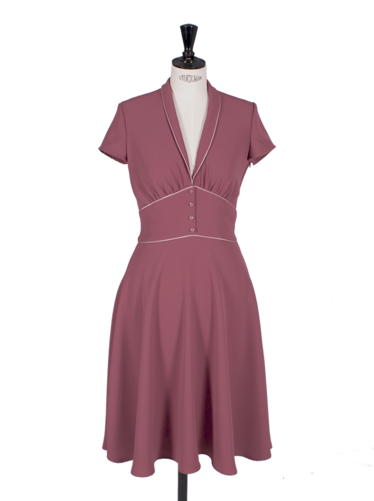 WANT Ginger ~ 1950\'s Pale Burgundy Dress | La Vie en Swing Clothing ...
