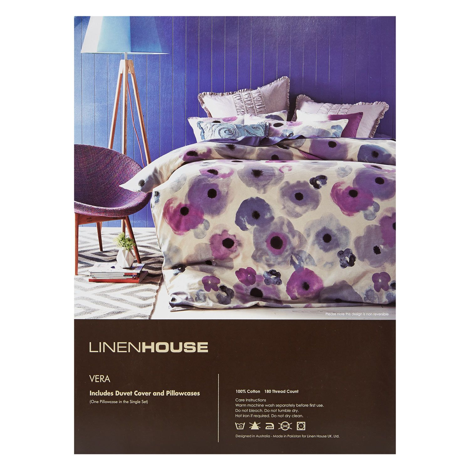 Linen House Double Floral Print Duvet Set Duvet Sets Duvet