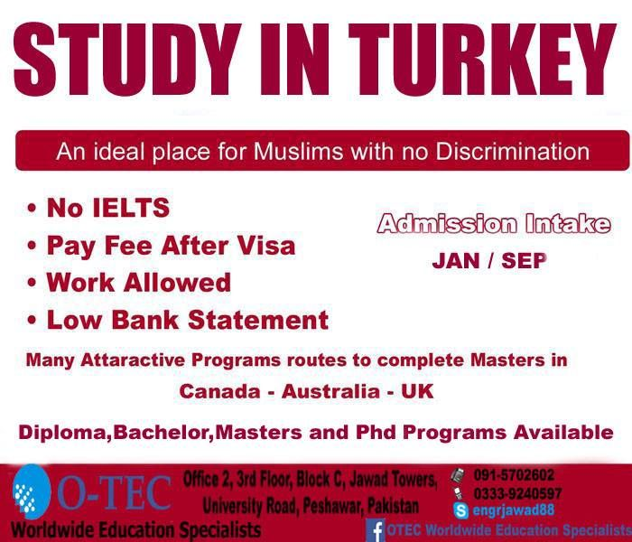 Study in Turkey with 50% Scholarships Diploma, Bachelor
