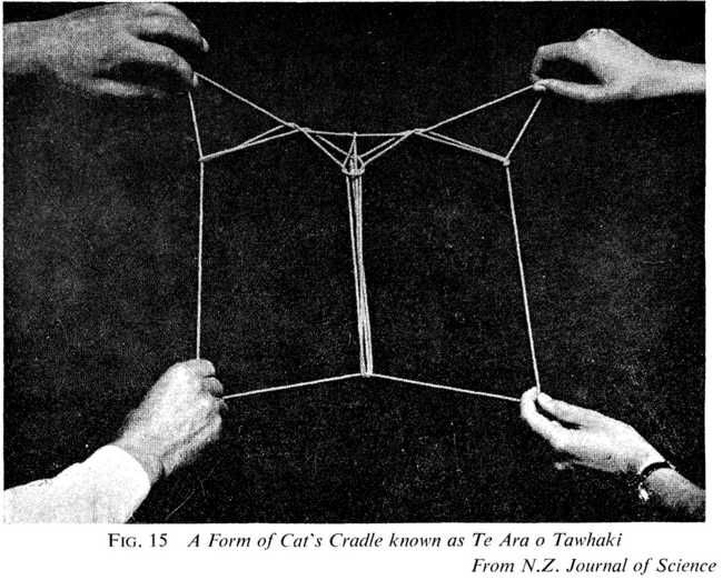 Fig. 15 A Form of Cat's Cradle known as Te Ara o Tawhaki From N.Z. Journal of Science