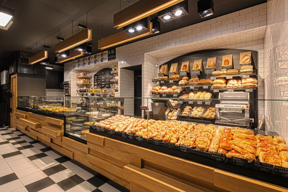 Creative Polish Bakery Uses Recycled Baking Trays as Wall Tiles | Interior Design Shop