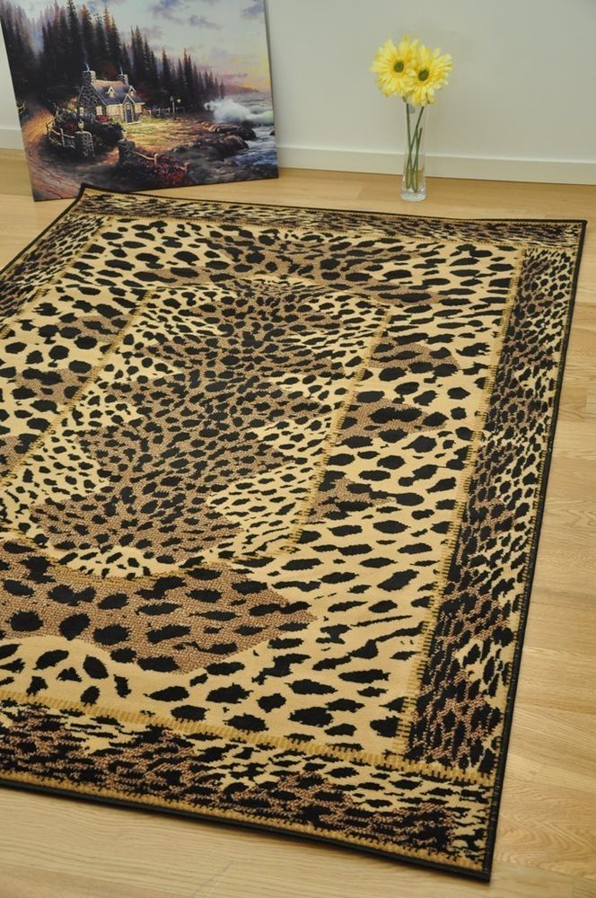 Leopard Print Area Rugs Small Extra Large Animal Soft Mats Rug