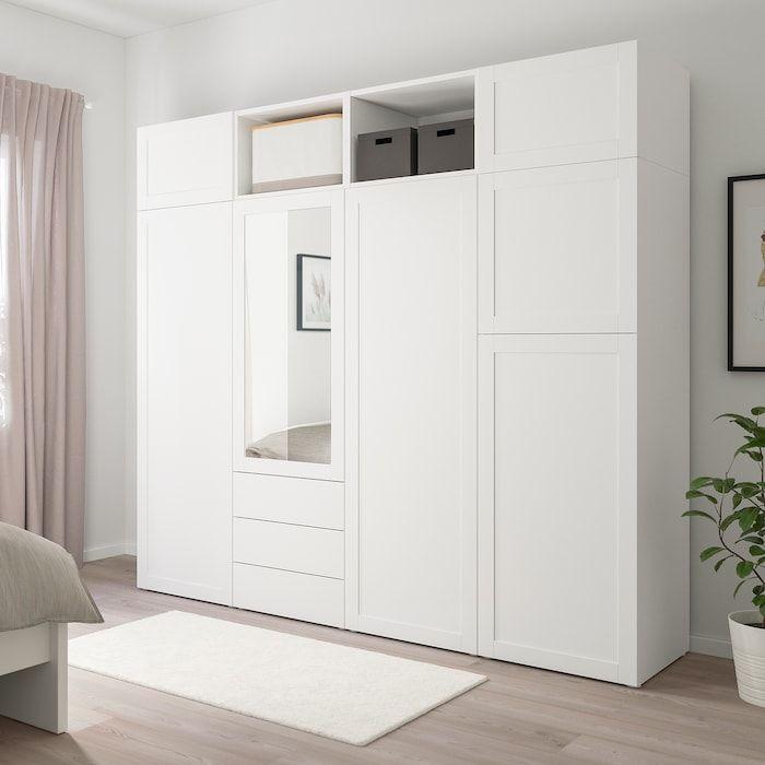 Best Platsa Wardrobe With 7 Doors 3 Drawers White Sannidal 400 x 300