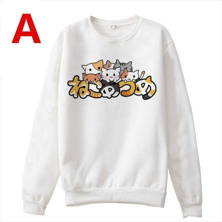 Japanese kawaii anime cat fleece pullover SE6572 Anime cat - clothing sponsorship