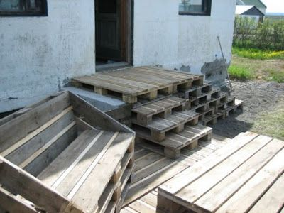 Terrace Made Of 163 Recycled Pallets | Pallets, Yards And 1001 Pallets