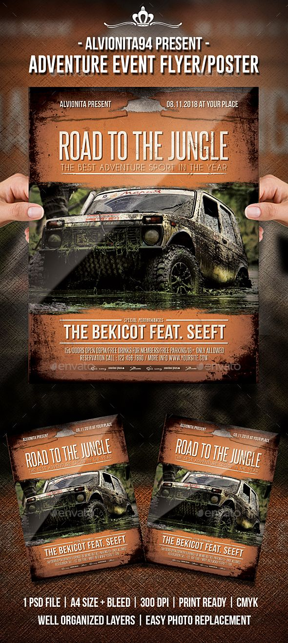 Adventure Event Flyer  Poster  Event Flyers Flyer Template And