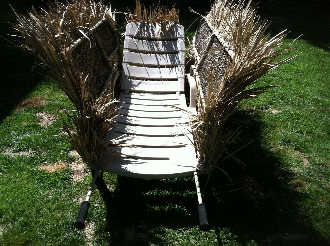 Genius Lounge Chair Outfitted With Grassy Camo Upland Bird Hunting Duck Hunting Waterfowl Hunting