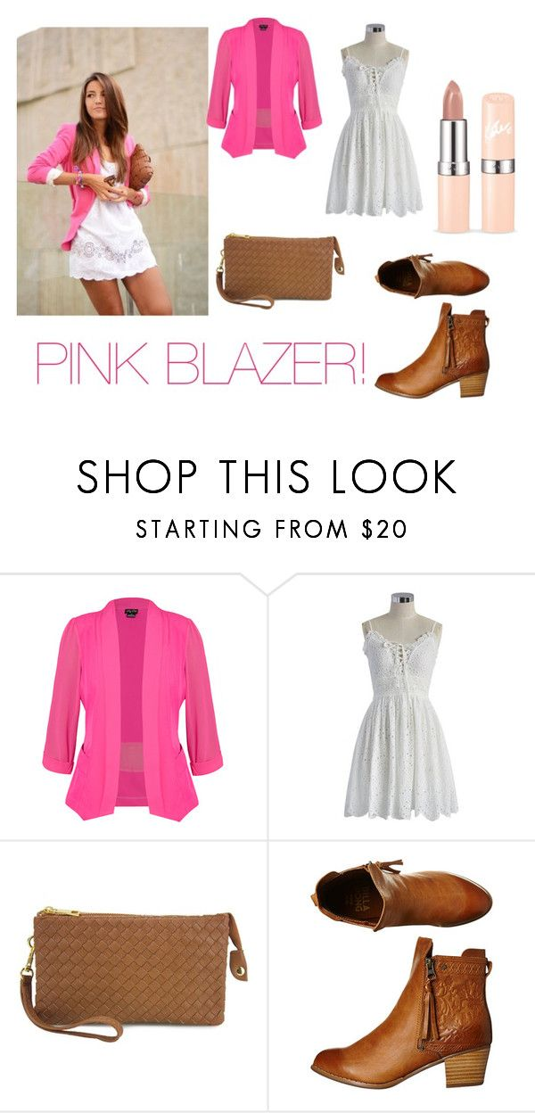 """""""pink blazer"""" by newbee3 ❤ liked on Polyvore featuring City Chic, Chicwish and Billabong"""