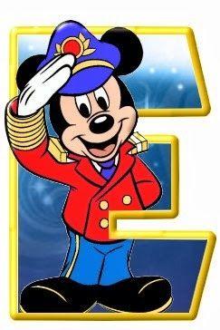 Alfabeto De Personajes Disney Con Letras Grandes Alfabeto Disney Letras De Disney Letras De Mickey