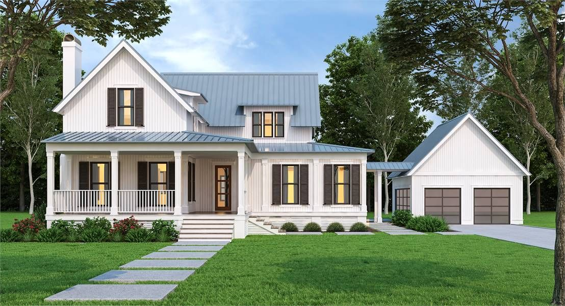 Charming Farm House Style House Plan 5300 Westview Farmhouse Style House Farm Style House House Plans Farmhouse