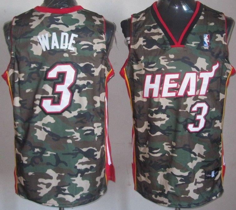 06c9b5d6721 NBA Miami Heat 3 Dwyane Wade Swingman Fashion Camouflage Camo Jersey   21.99. Heat  1 Chris Bosh Camo Stealth Collection Stitched ...
