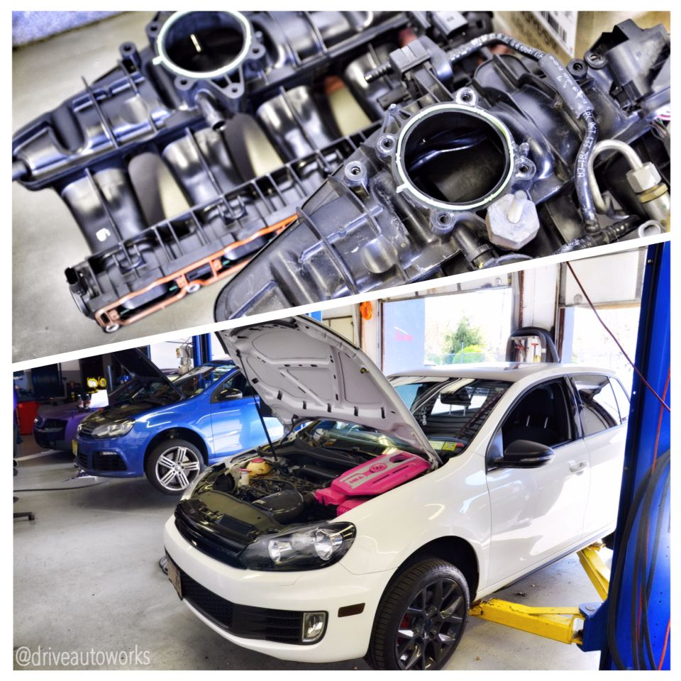 vw #mk6 #gti in for intake manifold replacement  This is a