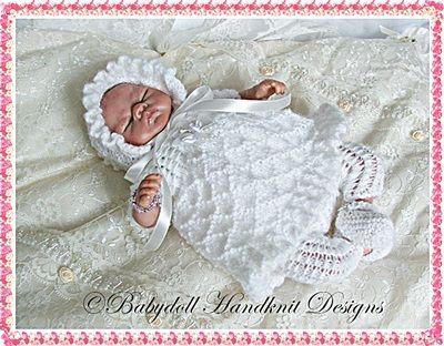 Frilled Dress & Leggings muñecas renacer, Emmy, modelo que hace punto, muñeca, vestido de 8.13 pulgadas