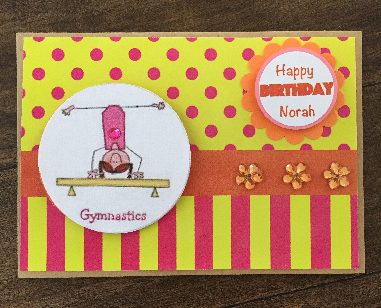 Handmade Gymnastics Birthday Card   Cards handmade, Gymnastics ...