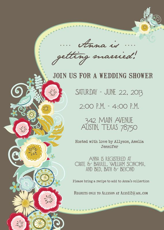 bridal shower invitations bohemian floral rustic invitation print your own