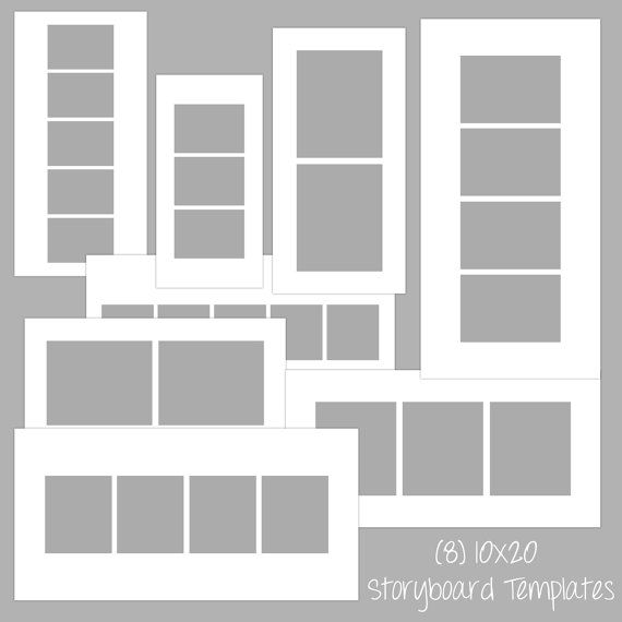 10x20 Storyboard Photoshop Psd Album Template On Etsy Graphic