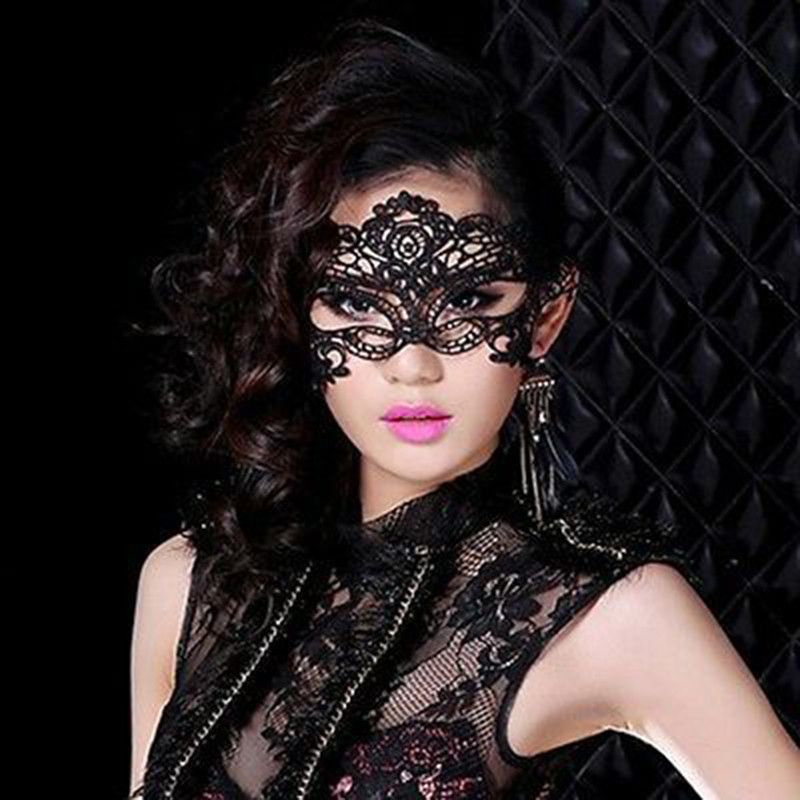 y Black Fancy Dress Lace Venetian Mask Masquerade Ball Prom Halloween Costume Alternative Measures