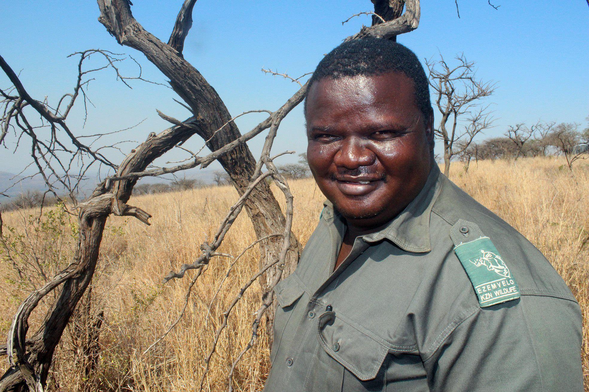 The human face of the rhino wars. Honoured for dedication: Staff Sergeant Bhekinkosi Mkhwanazi was awarded the Maqubu Ntombela Award for being Ezemvelo's best field ranger last year. KZN Wildlife October 28, 2014