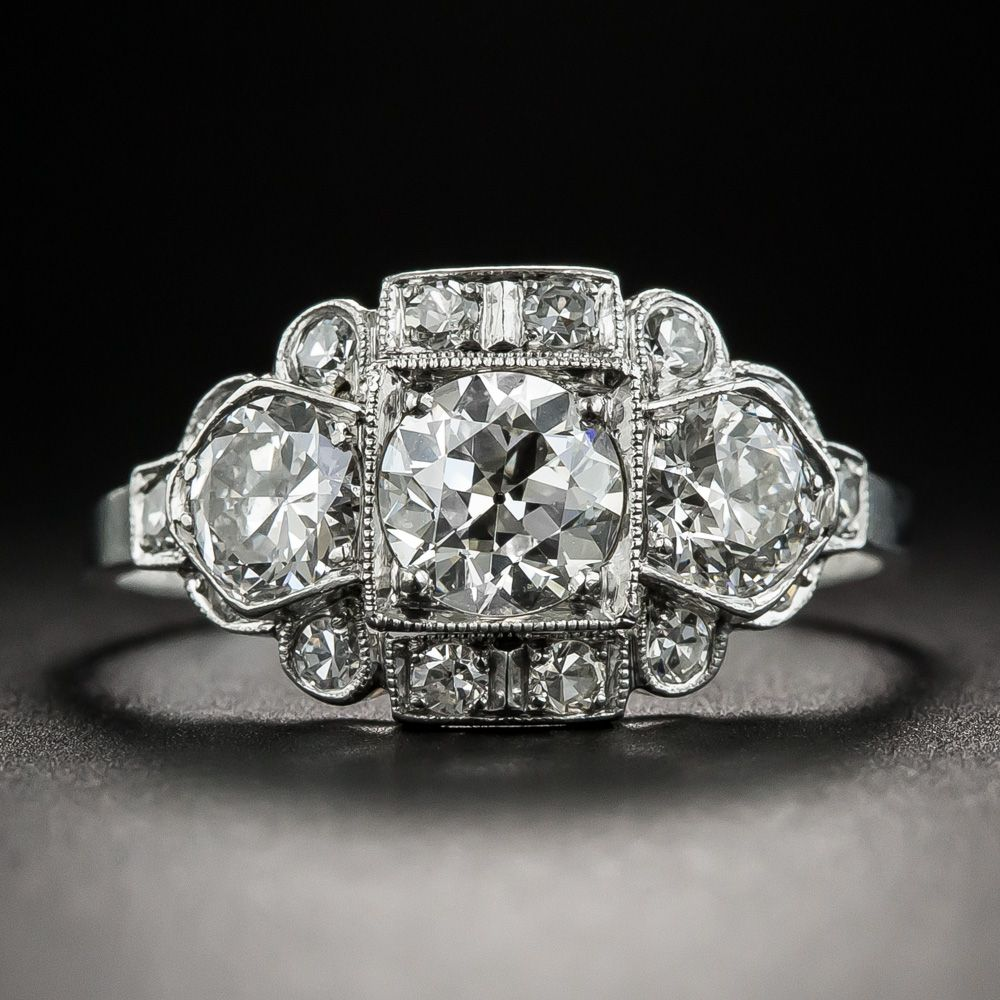Vintage Engagement Rings Chicago: Hand Fabricated In Platinum