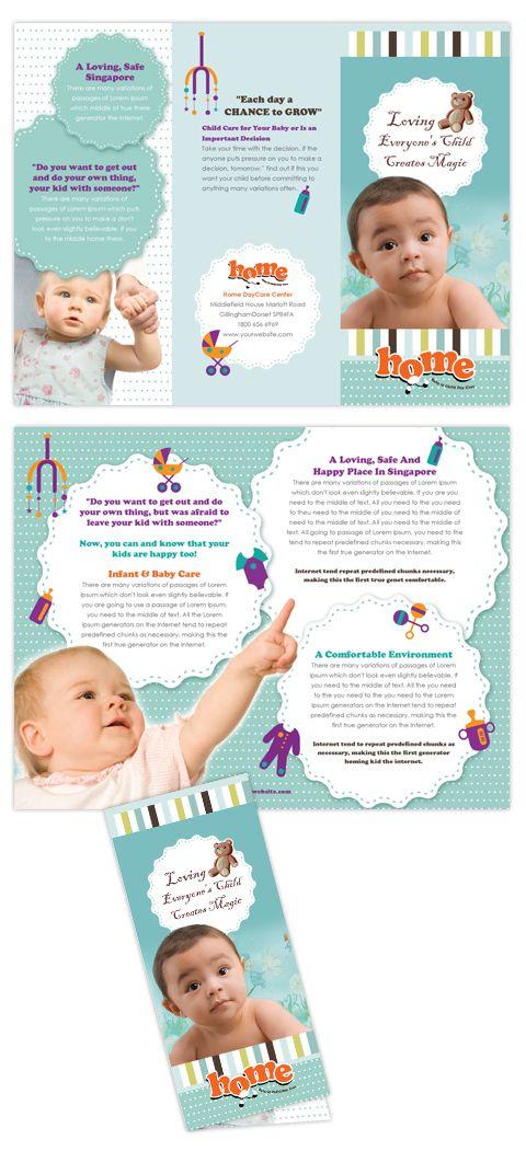 Baby Toddler & Child Day Care   [design] brochures   Pinterest   Child