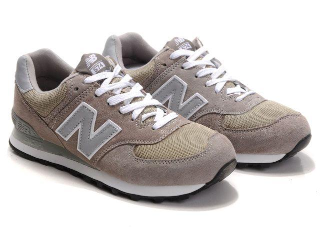 info pour 34638 498f1 New Balance 574 Zapatillas Clásicos Hombre M574GS Beige ...