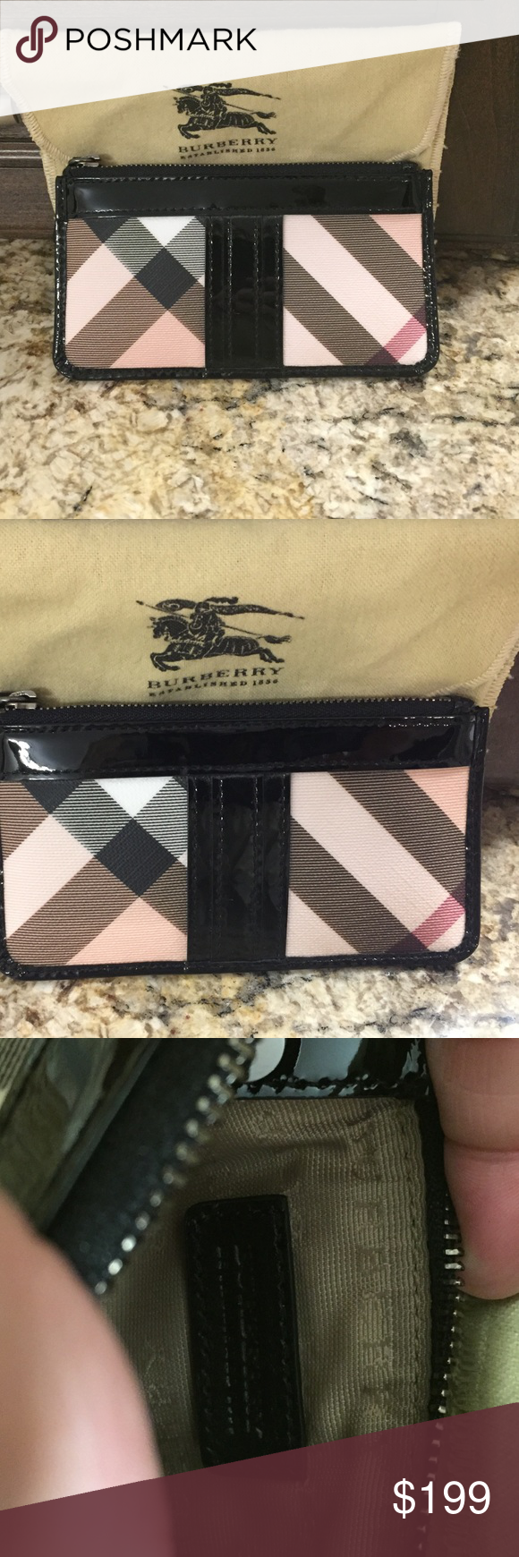 {Burberry} coin purse with dust bag, NWOT {Burberry} coin purse with dust bag, NWOT, never used, perfect condition Burberry Bags Clutches & Wristlets