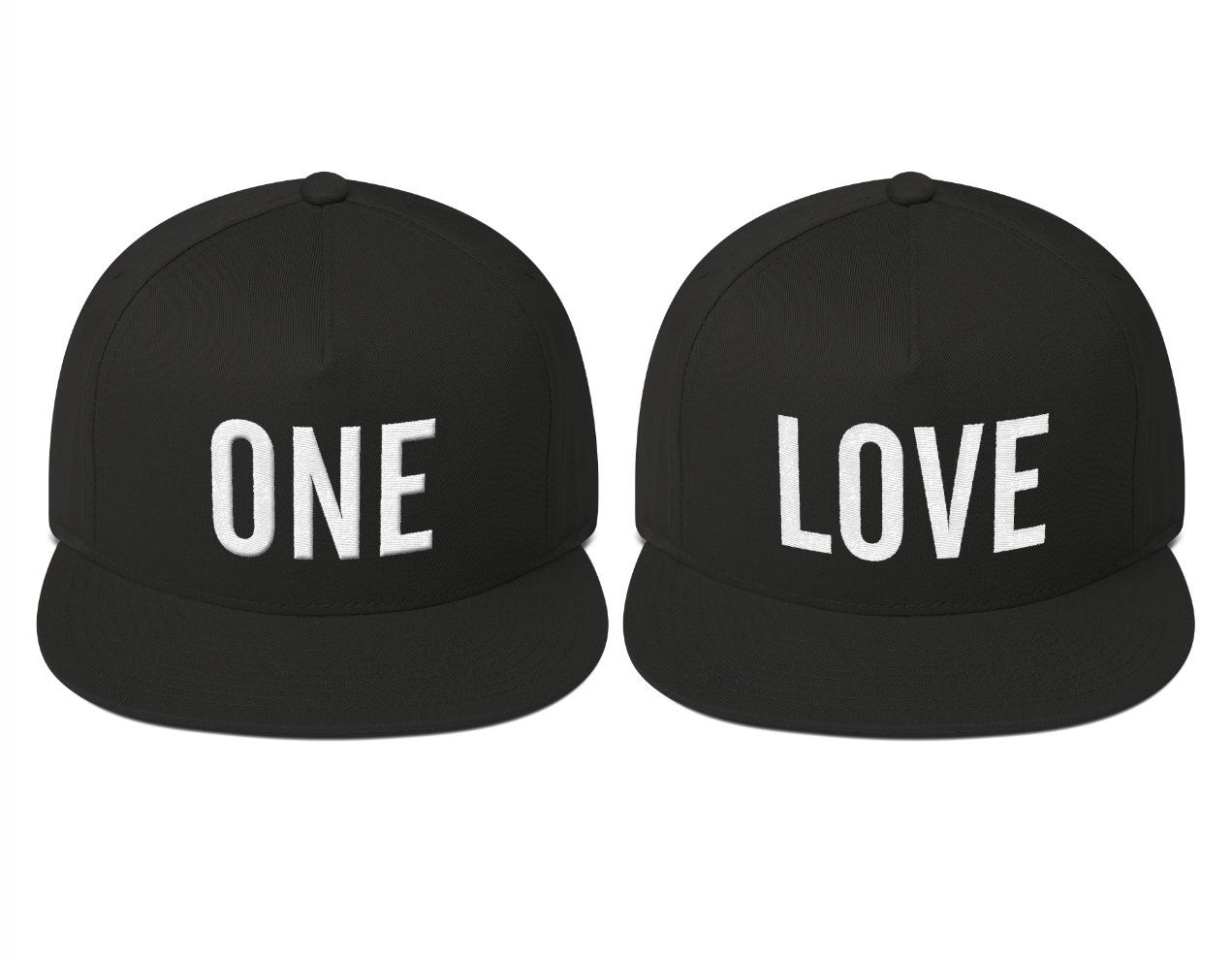 Lot of 2 HIS /& HERS Snapback Couple/'s Gift Set Caps Hats Adjustable one size