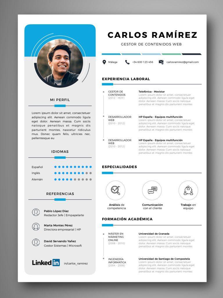 Curriculum Vigo Empapelarte Graphic Design Resume Resume Design Creative Curriculum Vitae Template Free