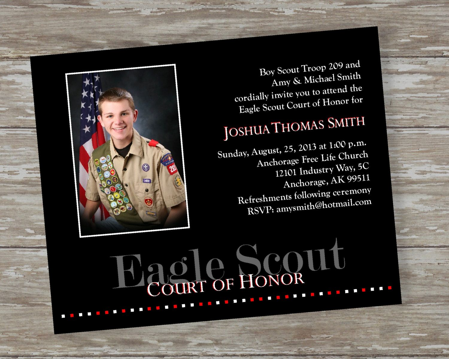 Free Eagle Scout Invitation Template Inspirational Eagle Scout Court Of Honor Invitations By Eagle Scout Invitation Template Birthday Invitation Card Template