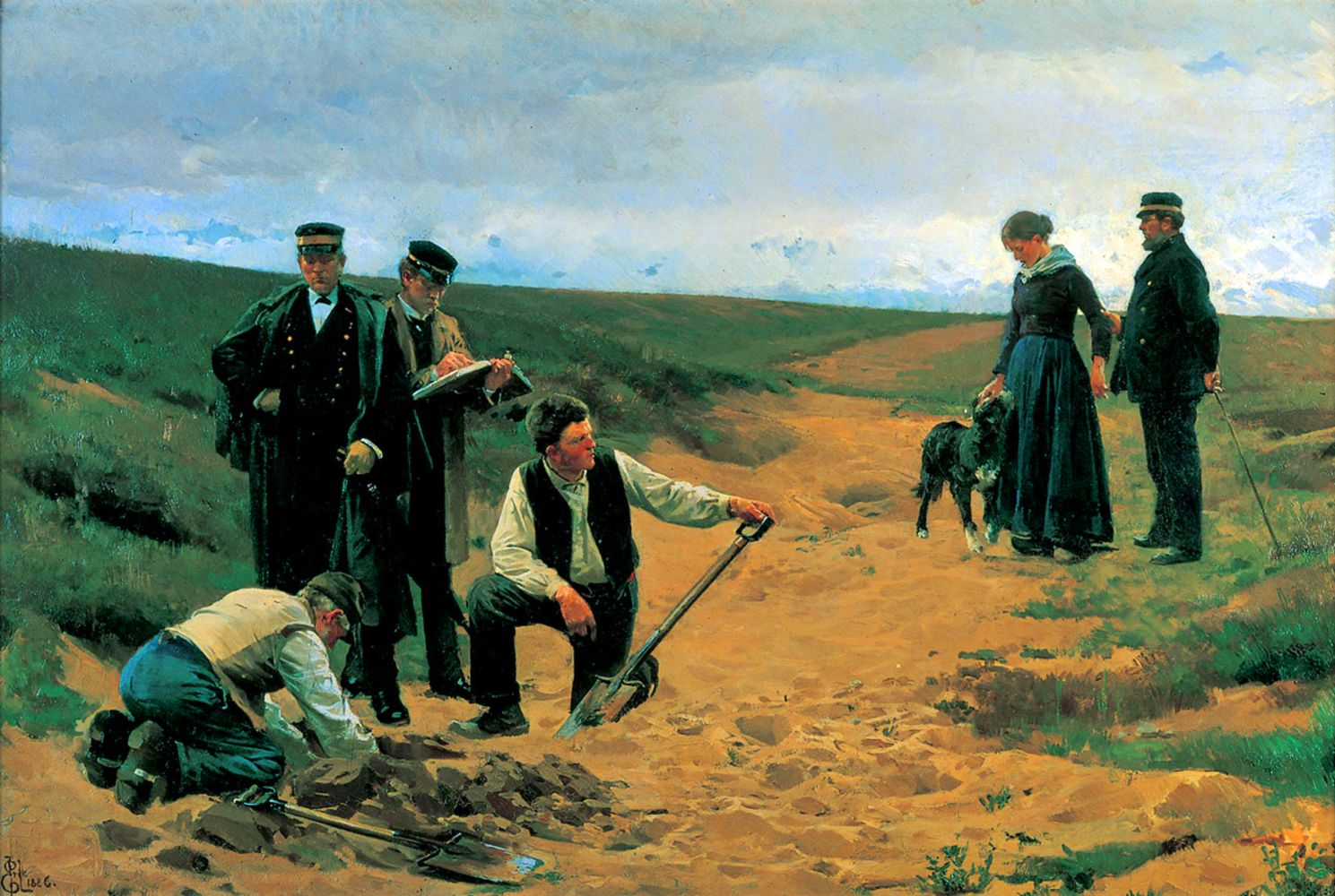 Danish Officers Burying A Dead Soldier During The Schleswig War Scandinavian Art 19th Century Art Classic Art