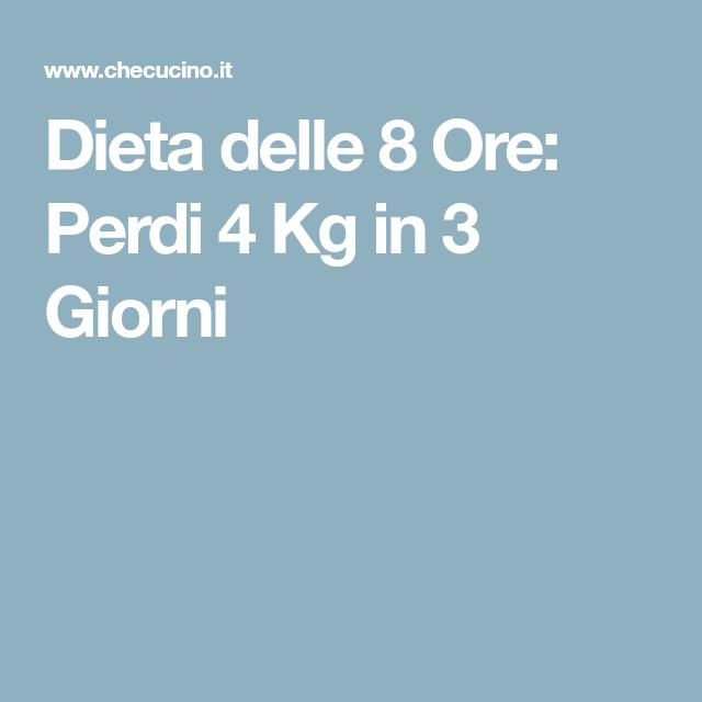 dieta 4 ore