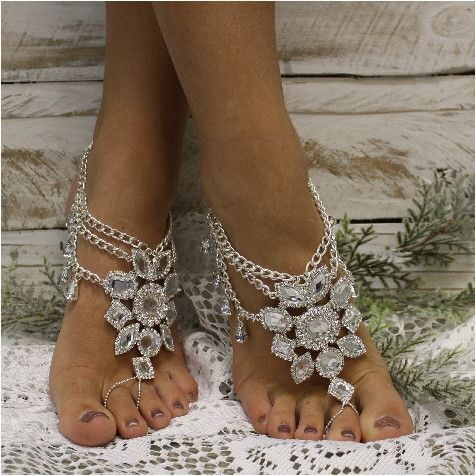 GYPSY SOLE barefoot sandals antique silver Beach weddings