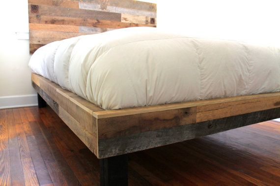 Distressed Wood Bed Frame Twin Full Queen by inglewoodcrafters ...