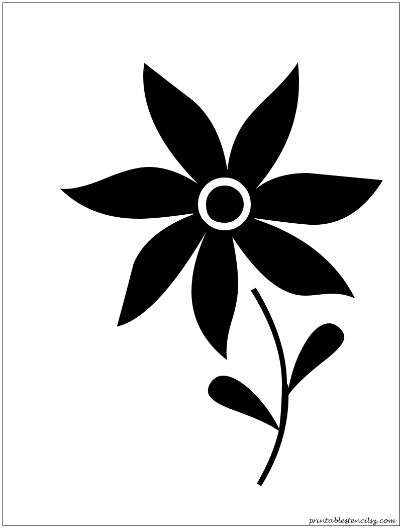 A simple flower stencil | Large Silhouettes and Stencils ...