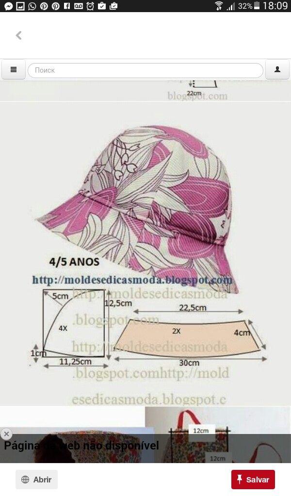 Pin de alis ramos en Patrones de costura   Pinterest   Sombreros ...